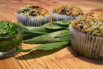 Herzhafte Muffins mit Bärlauch - Südtiroler Bäuerinnenorganisation